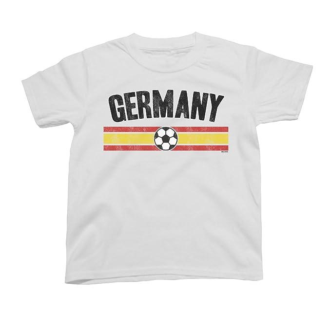 Niños O Niñas Germany Distressed Country Fútbol Camiseta Copa Mundial 2018 Kids Sports: Amazon.es: Ropa y accesorios