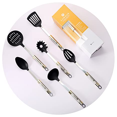 Amazon.com: 6 piezas Antiadherente nonscratch utensilios de ...