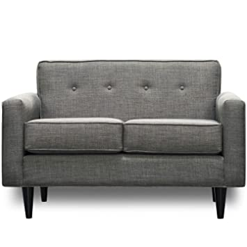 Amazon.com: SoCal Sofa Factory Mid Century Modern Loveseat ...