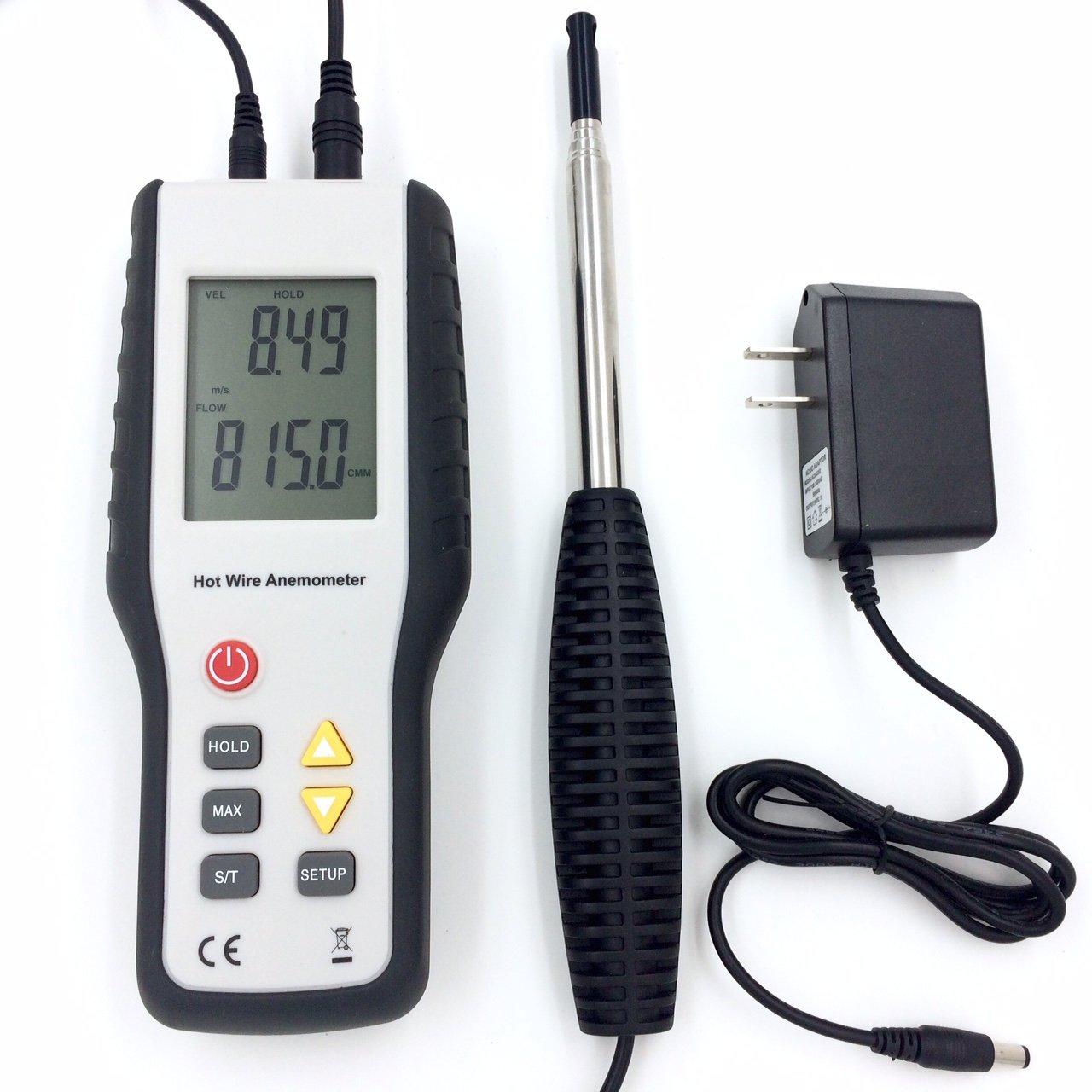 Perfect-Prime WD9829, Precise Sensitive HotwireThermal Anemometer ...