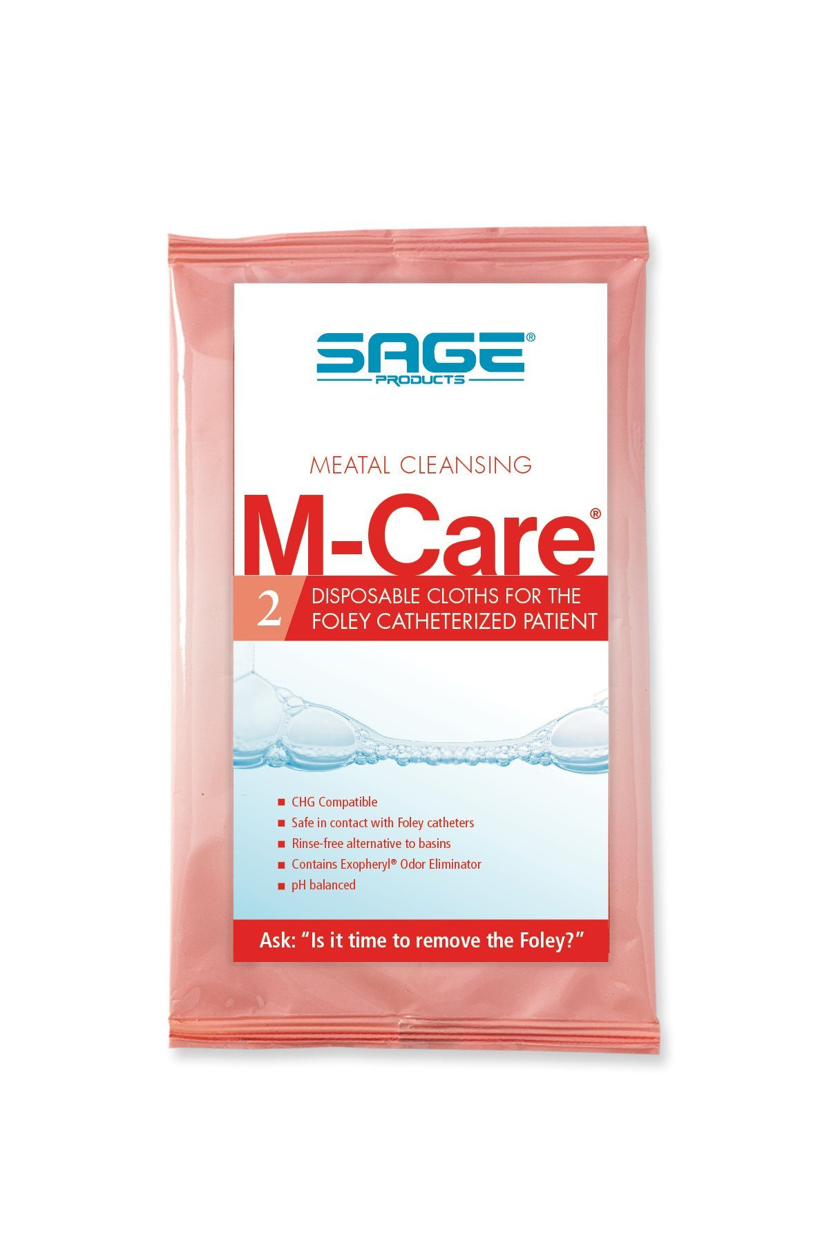 M-Care Meatal Cleansing Cloths - Case (168 packages) by Sage Products