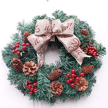 Artificial Flower Corona Navidad,Pino Navidad Decoración Torre 15 ...