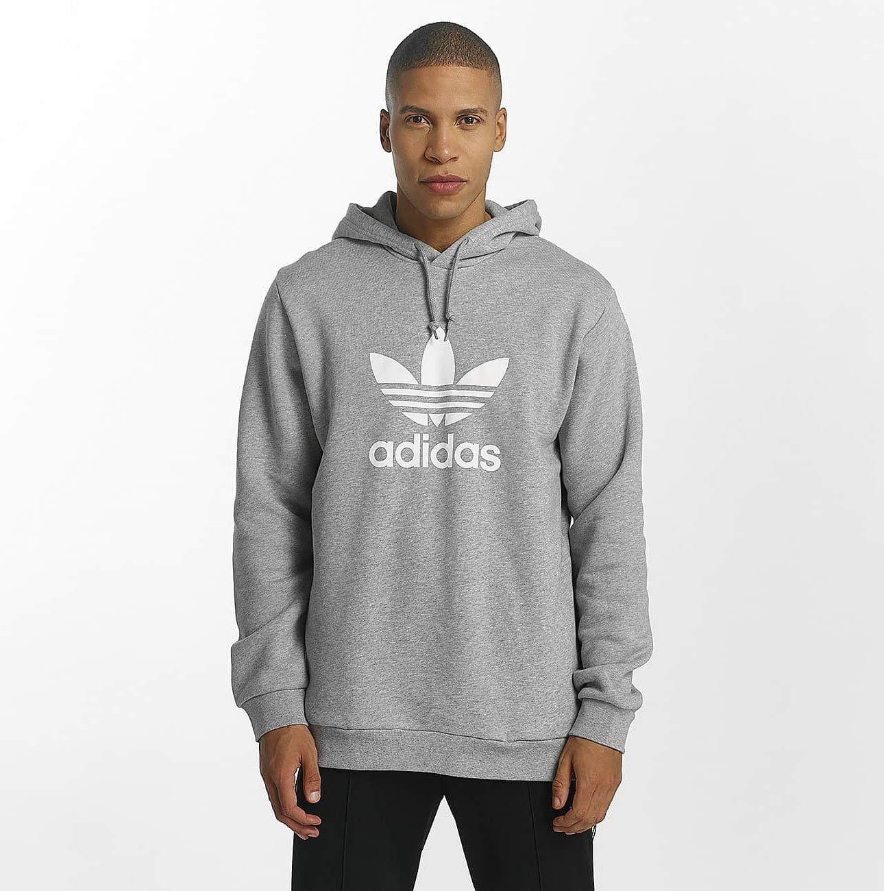 adidas Men's Trefoil Hooded Sweatshirt ADIEY|#adidas