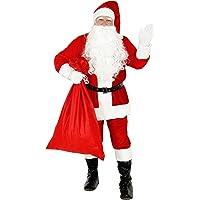 Foxxeo Premium Weihnachtsmann Kostüm für Herren - Größe XL – Weihnachtsmannkostüm