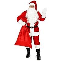 Foxxeo Premium Weihnachtsmann Kostüm für Herren - Größe XXXL – Weihnachtsmannkostüm