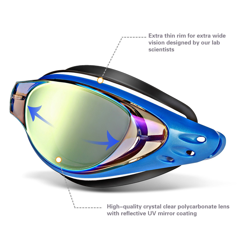 117a36f277d wave Prescription Unisex Swim Goggles with Vision Mirror Coated ...