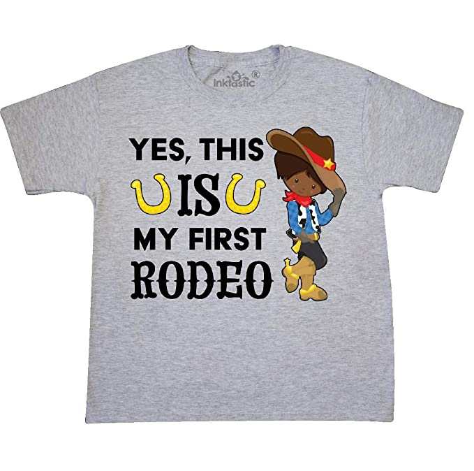 d294b8e3 Amazon.com: inktastic - Yes, This is My First Rodeo- Cowboy in hat ...