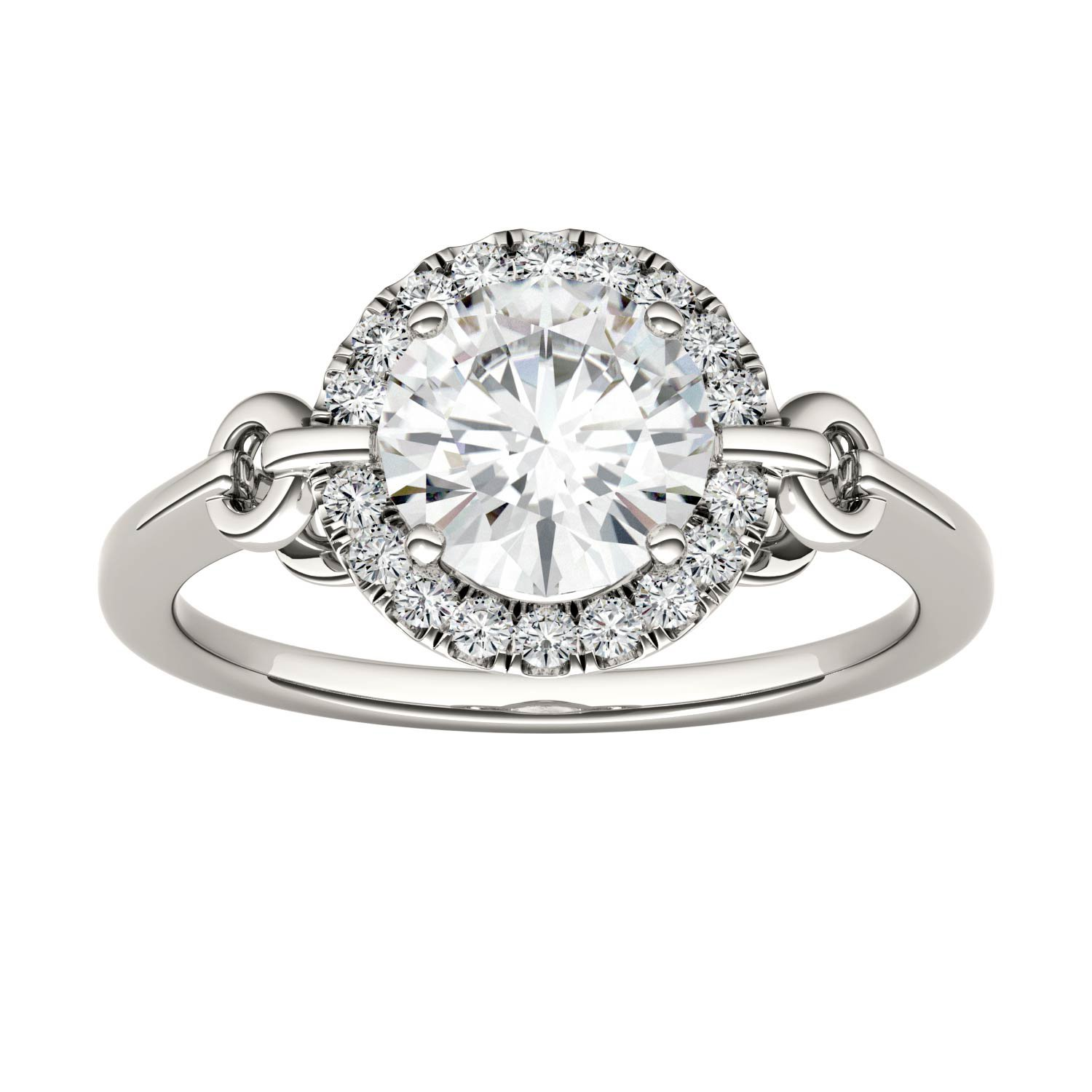 Forever Brilliant Round 7.5mm Moissanite Engagement Ring-size 6, 1.68cttw DEW By Charles & Colvard