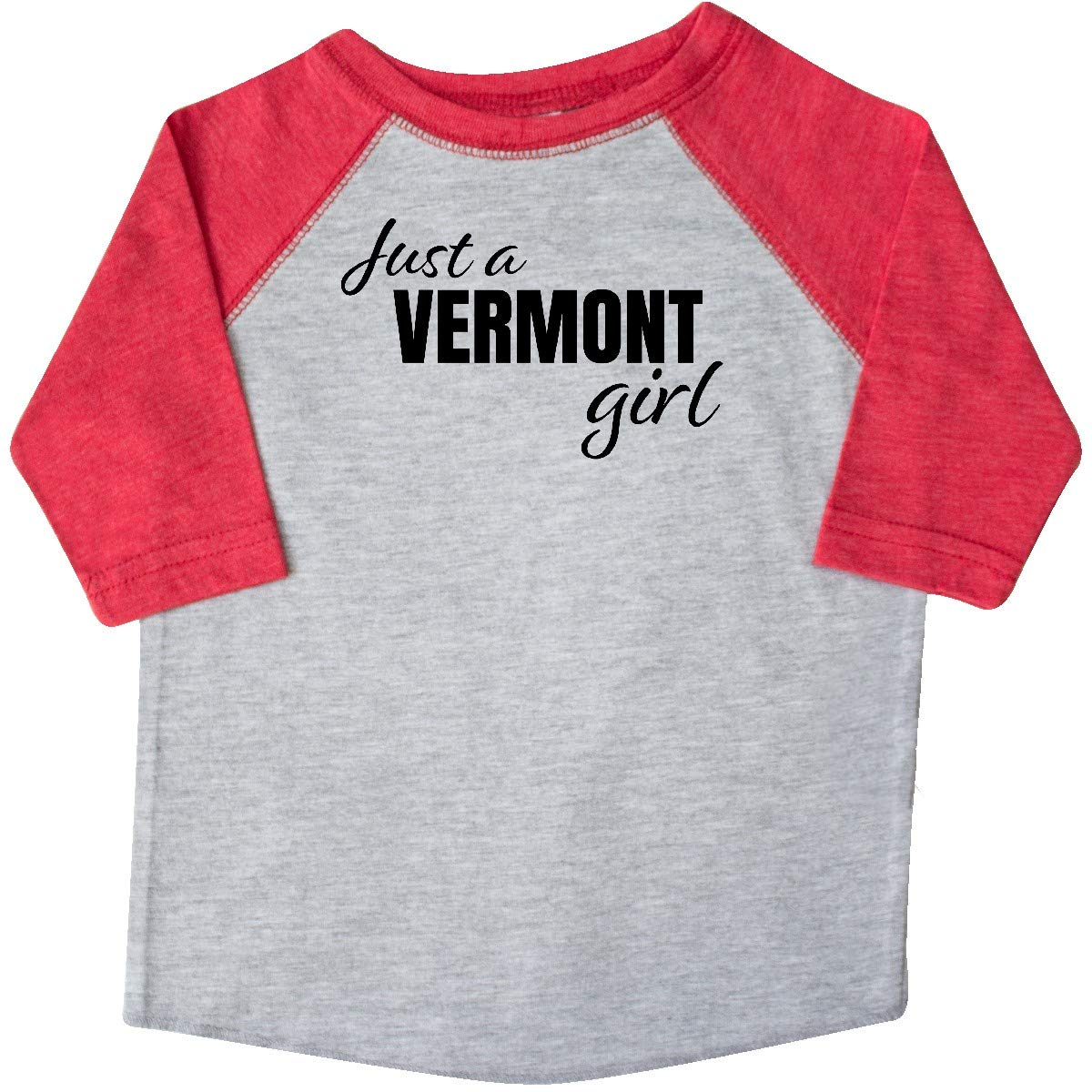 inktastic Just a Vermont Girl Born and Raised Toddler T-Shirt