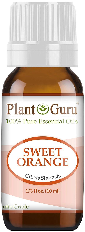 Sweet Orange Essential Oil. 10 ml. 100% Pure, Undiluted, Therapeutic Grade. by Plant Guru B00GR0I53Q