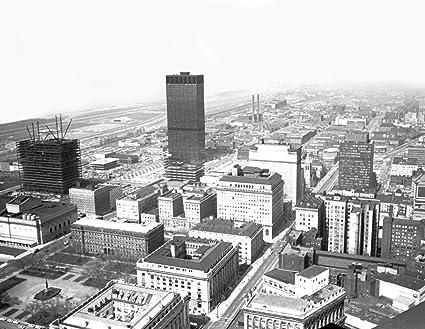 1965 antena vista de Cleveland, Ohio Vintage fotografía 8,5 ...
