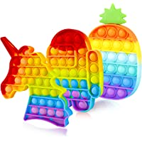 Genovega 3 Packs Pop Bubble Fidget Toy, Sensory Figit Set Silicone Cute Figetget Popits Toys, Autism ADHD Special Needs…