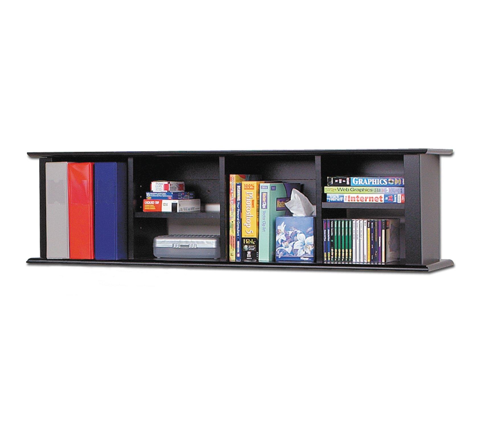 Prepac Black Wall Mounted Desk Hutch by Prepac