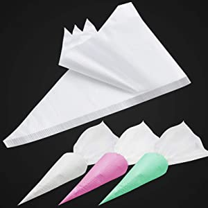 100PCS & 15Inch Piping Bags Disposable, Extra Thick Pastry Bags Disposable, Non-Slip Icing Piping Bags Design, Cake Decorating Bags Easy to Squeeze the Icing Cream.