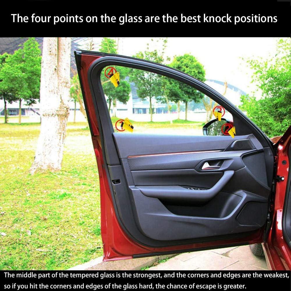 Compact lightweight Portability Key Ring 1pcs 2pcs Window Breaker seatbelt cutter 2pcs Emergency escape tool safety rescue tool car window breaker Seat belt cutter Spring hook snow removal shovel
