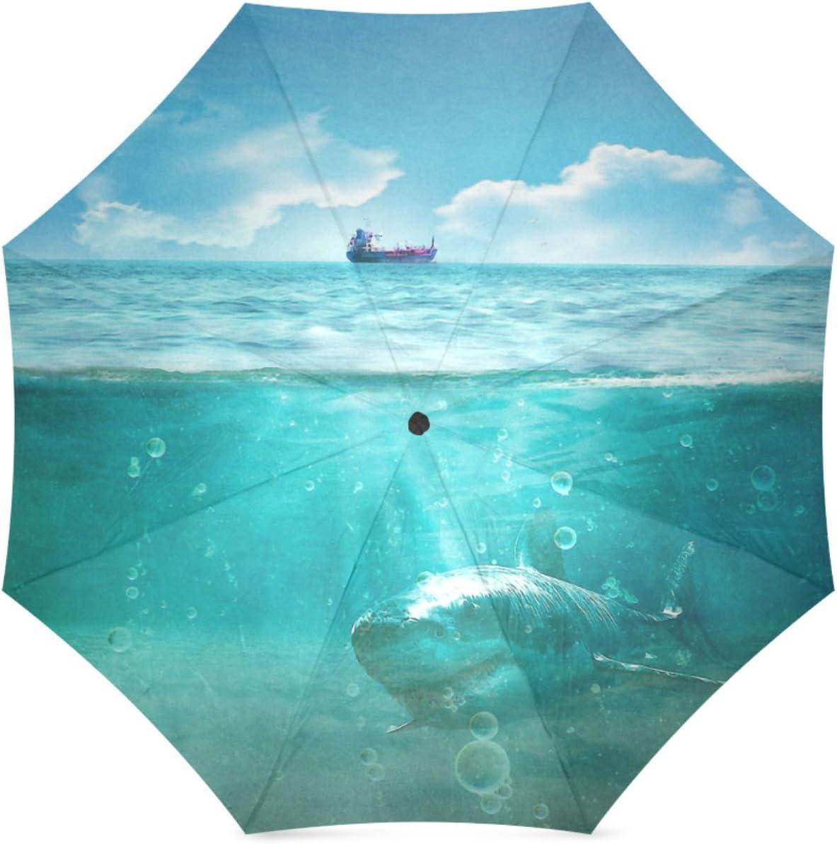 Beautytool Custom Blue Aur Foldable Umbrella Sun Rain Anti-Uv
