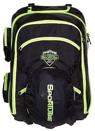 Sportube Overheader Boot Padded Ski Boot Backpack - Black Green ... fd885ef68e