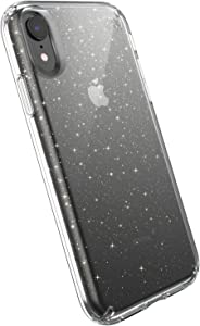 Speck Products Compatible Phone Case for Apple iPhone XR, Presidio Clear + Glitter Case, Clear with Gold Glitter/Clear