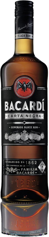 Rum Bacardi Carta Negra Superior Black: Amazon.es ...