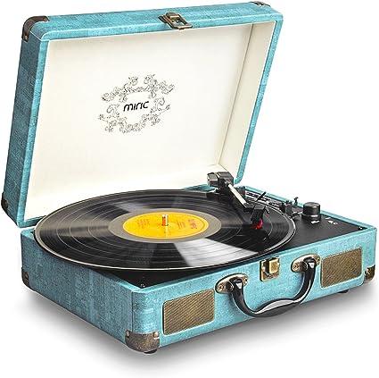 Amazon.com: Record Player, Miric Turntable for 7/10/12 Vinyl ...