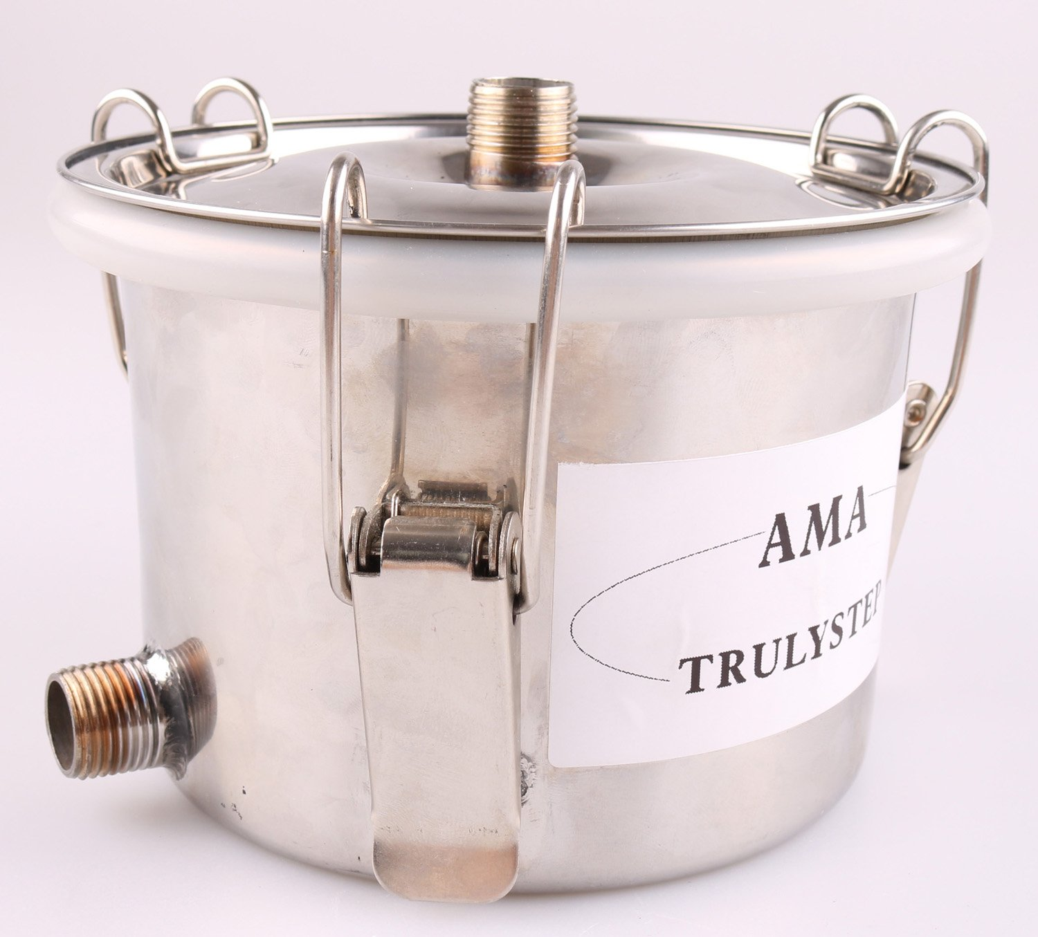Spare Parts for 3 Pots Moonshine Still/Distiller/Brewing Kit: Stainless Middle/Spice/Fruit Pot & Bellows Pipes (fit 3 Gallon 12 Litres Distiller)