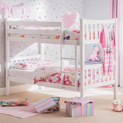 Happy Beds Feliz Camas litera de Zodiac 3 ft Blanco de Madera Muebles de Dormitorio para