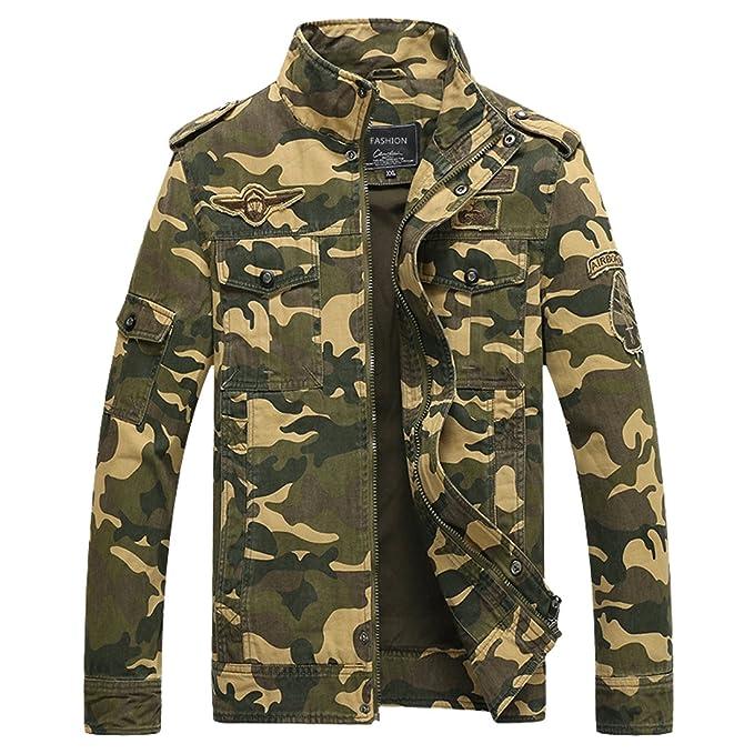 Amazon.com: Chaqueta de camuflaje para hombre, chaqueta de ...