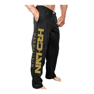 Monsta Clothing Co. Men's (Open-Bottom) Sweatpants HRD-Lvn-8: Gold