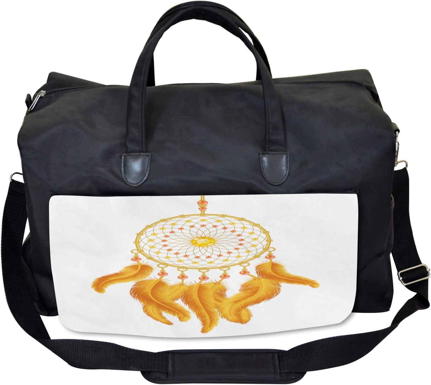 Ambesonne Aztec Gym Bag American Indigenous Large Weekender Carry-on