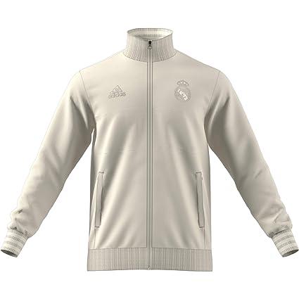 8853a5a6c06ee Amazon.com : adidas 2018-2019 Real Madrid SSP Training Top (Cream ...