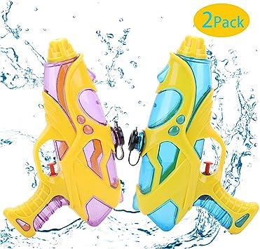 EKKONG Pistola de Agua, 2 Pack Pistola de Agua para Niños Adultos ...