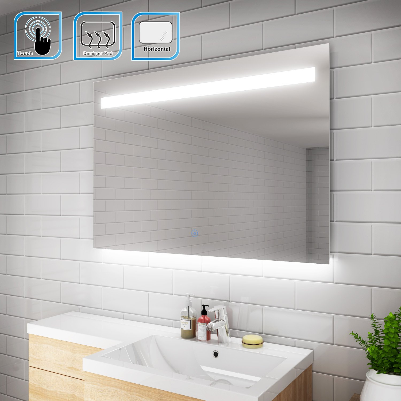 ELEGANT 1000 x 700 mm Heated Backlit LED Illuminated Bathroom Mirror ...