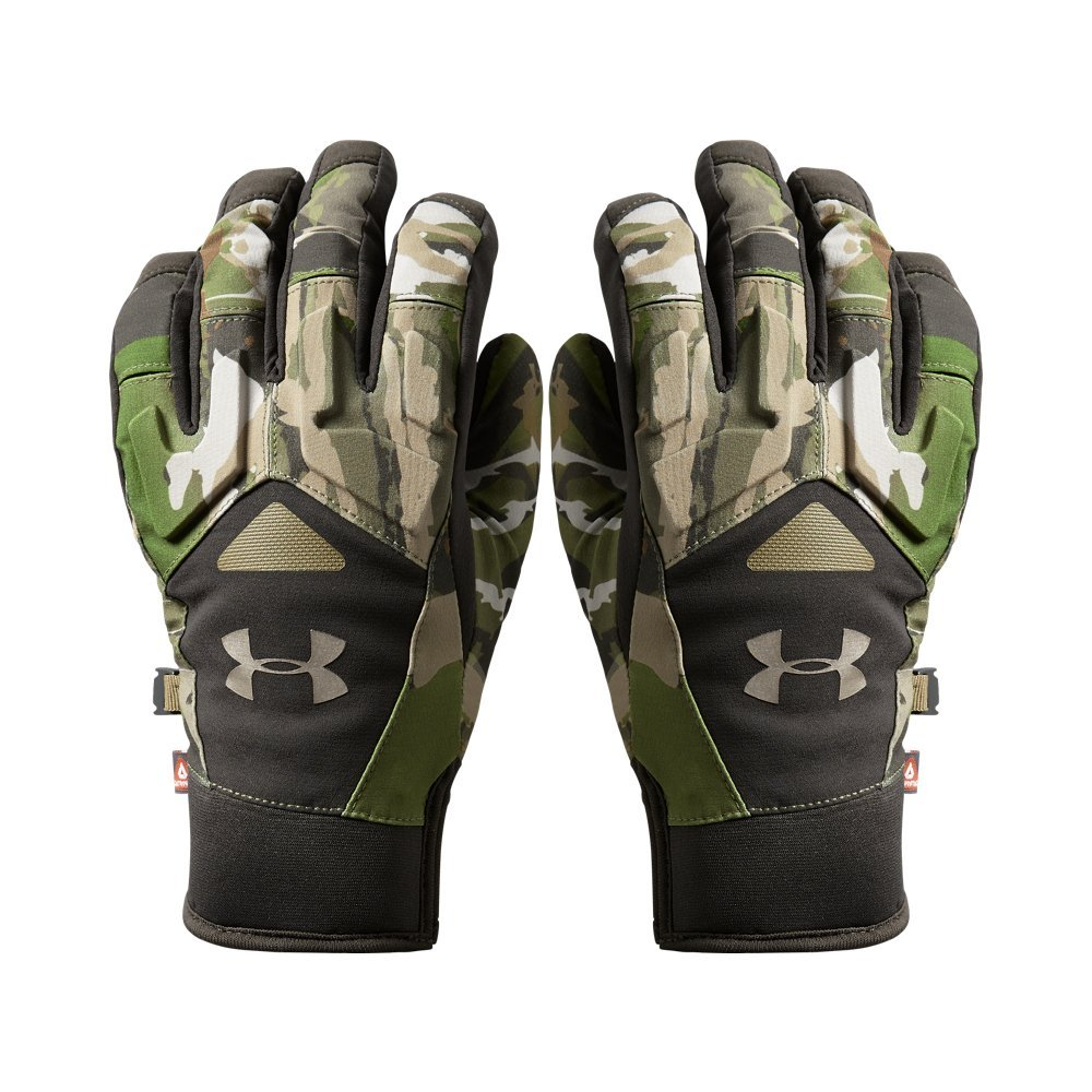Under Armour Women's Primer Gloves, Ridge Reaper Camo Forest (943)/Metallic Beige, Medium