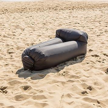 Inflable tumbona con respaldo almohada y bolsa de ...