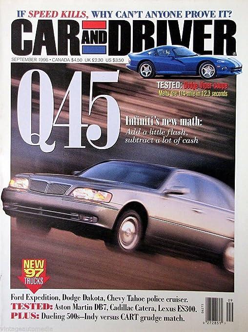 Amazon Com Car And Driver Infiniti S New Math September 1996