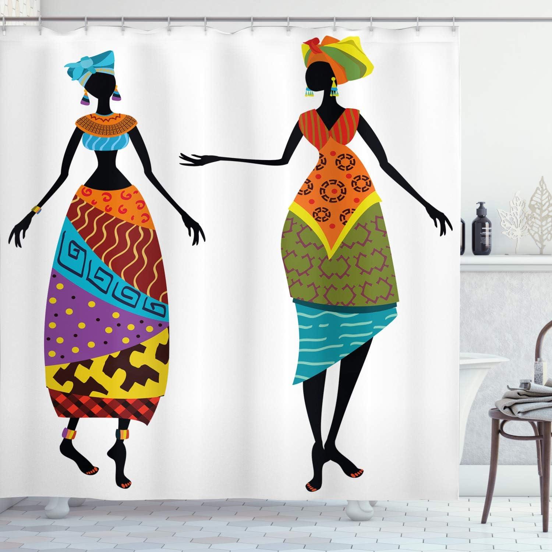 Mujer africana cortina de ducha por Ambesonne, Tribal Ladies en ...