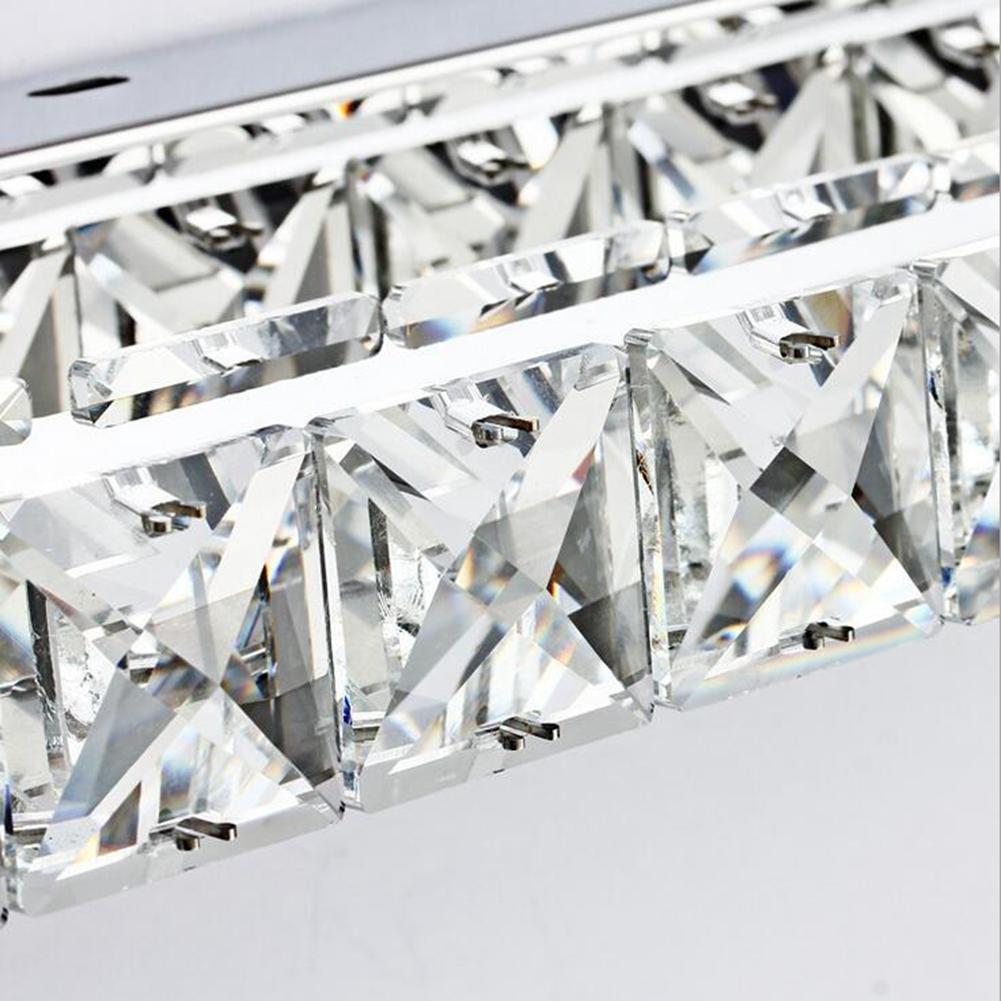 ZHY Crystal Mirror Headlights Fashion Simple LED Bedroom Bathroom Bathroom Mirror Lamp Luxury Lamps, A, 40cm by ZHY (Image #4)