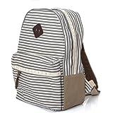 Koolertron Vintage Casual Canvas Daypack SchoolBag Travel Hiking Backpacks Campus School College Bookbag Rucksack Gym Shoulder Bag Portable laptop Carry Case (Grey)