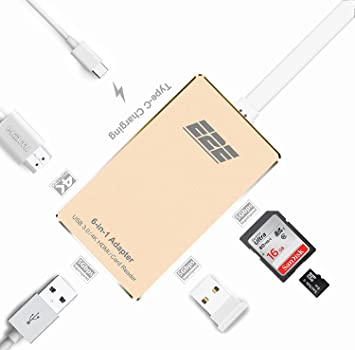 USB 3.1 Type-C to USB 3.0 HUB USB-C 5IN1 Charging Port Card Reader Adapter Cable
