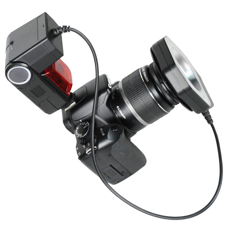 ProfessionalマクロリングフラッシュライトWorks with Nikon d600 DSLR – フルe-ttl I / II – Extremeクローズアップ写真 – IGBT – Micro品質 – アダプタリング – 5600 K Color Temp – Evコントロール – フォトエッジ。   B01FL4WIT0