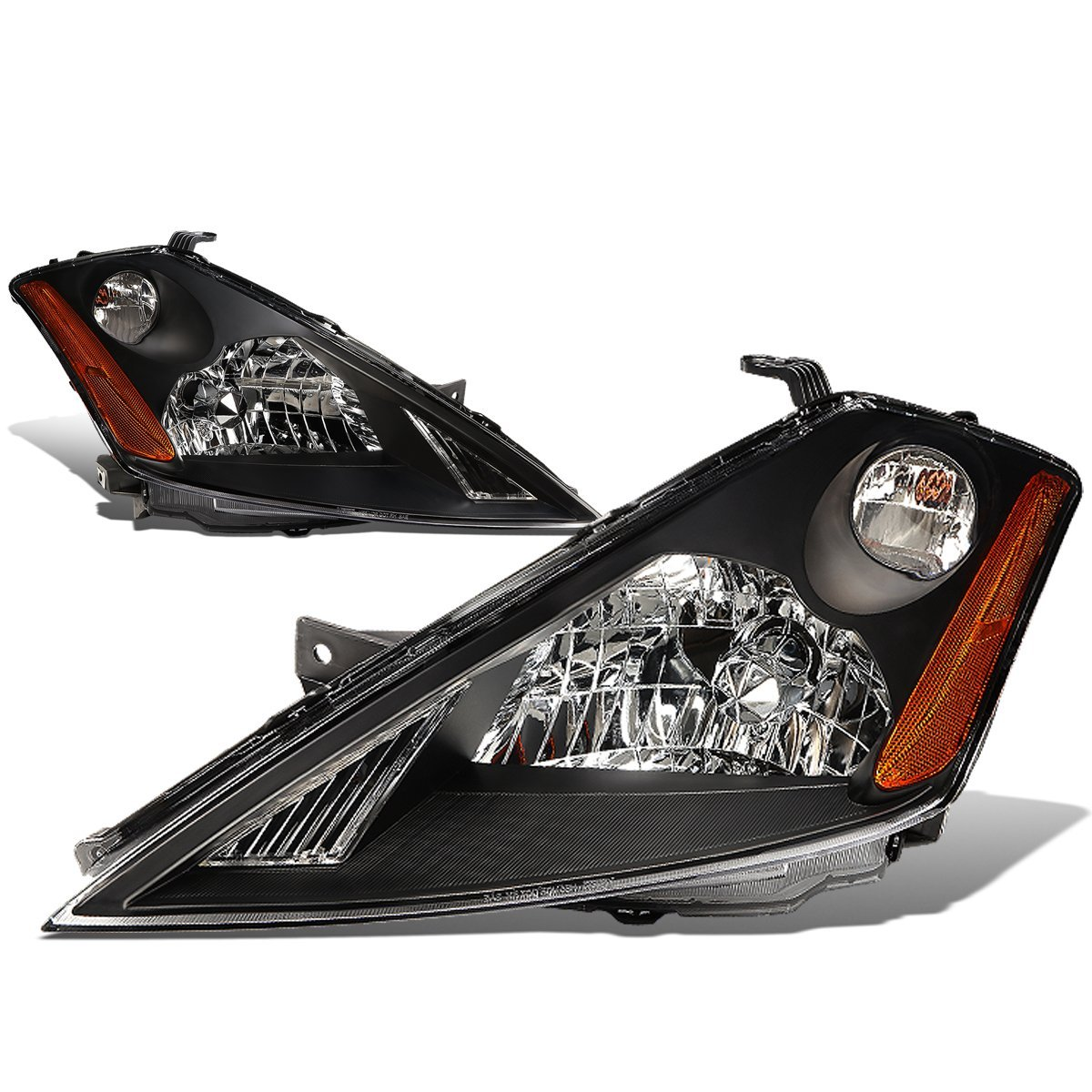 DNA MOTORING HL-OH-077-BK-AM Headlight Assembly, Driver and Passenger Side
