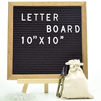 Amazon.: Felt Letter Board Sign Board Black Message Board with