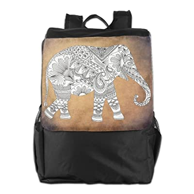 Mandala Elephant Wild Animal Convenient Lightweight Travel Hiking Backpack Daypack Gift chic