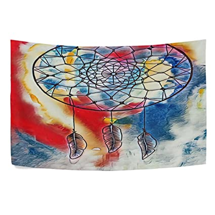 Amazon Com Formrs Watercolor Dreamcatcher Tapestry Wall
