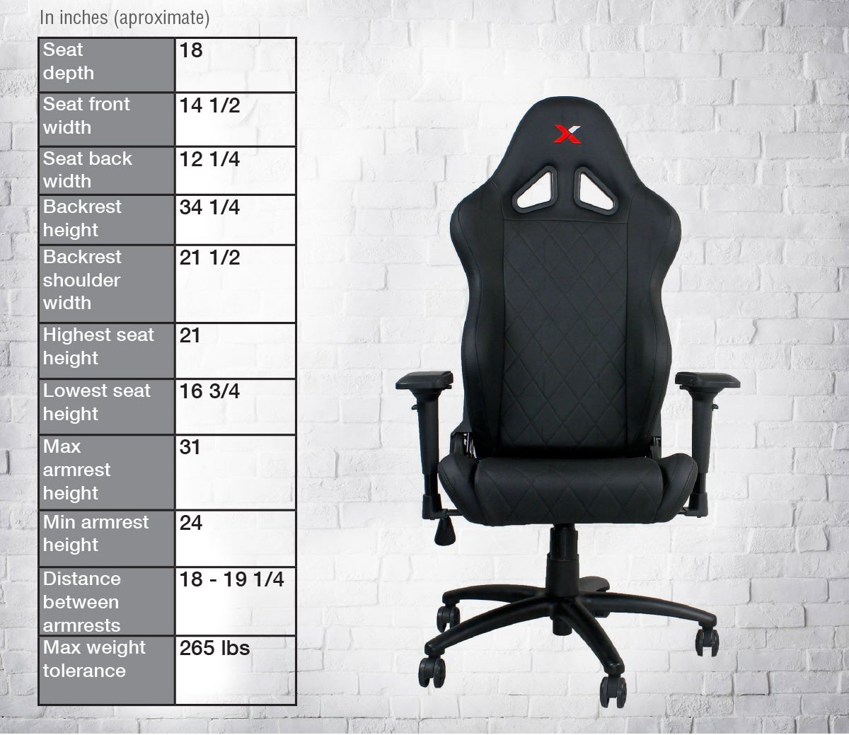 Ferrino XL Black on Black Gaming and Lifestyle Chair by RapidX