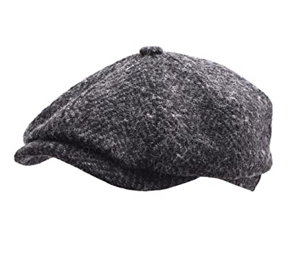 Stetson Men s Hatteras Herringbone Newsboy Cap Size 55 Cm Black-331 9ea82dddda2