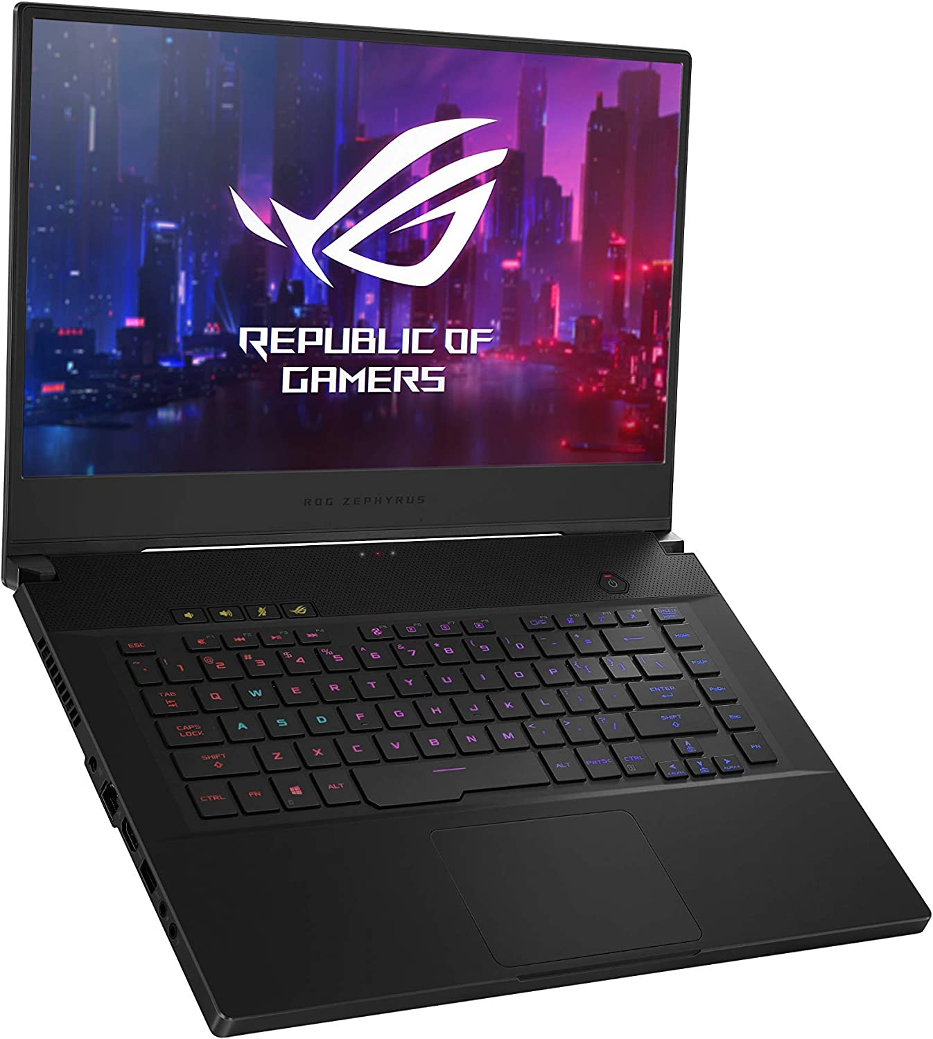 "ROG Zephyrus M Thin and Portable Gaming Laptop, 15.6"" 240Hz FHD IPS, NVIDIA GeForce RTX 2070, Intel Core i7-9750H, 16GB DDR4 RAM, 1TB PCIe SSD, Per-Key RGB, Windows 10 Home, GU502GW-AH76 (Renewed)"