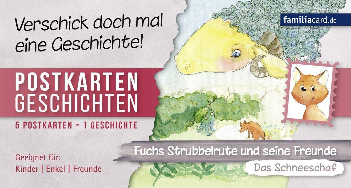 Fuchs Strubbelrute und seine Freunde – Das Schneeschaf: Postkartengeschichten (Postkartengeschichten: Fuchs Strubbelrute und seine Freunde)
