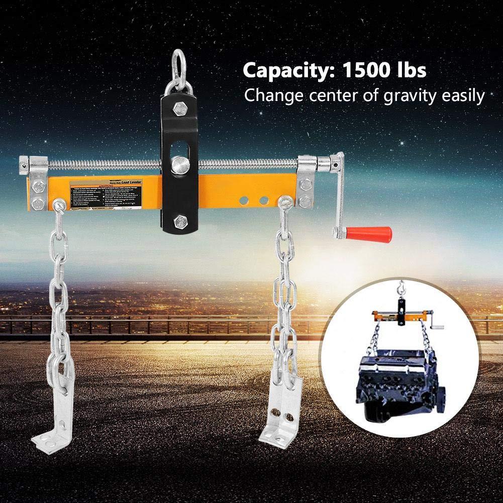 Grue de Moteur /Équilibreur de Charge pour Garage Atelier Charge Maximale de 1500lbs Levage de Moteur