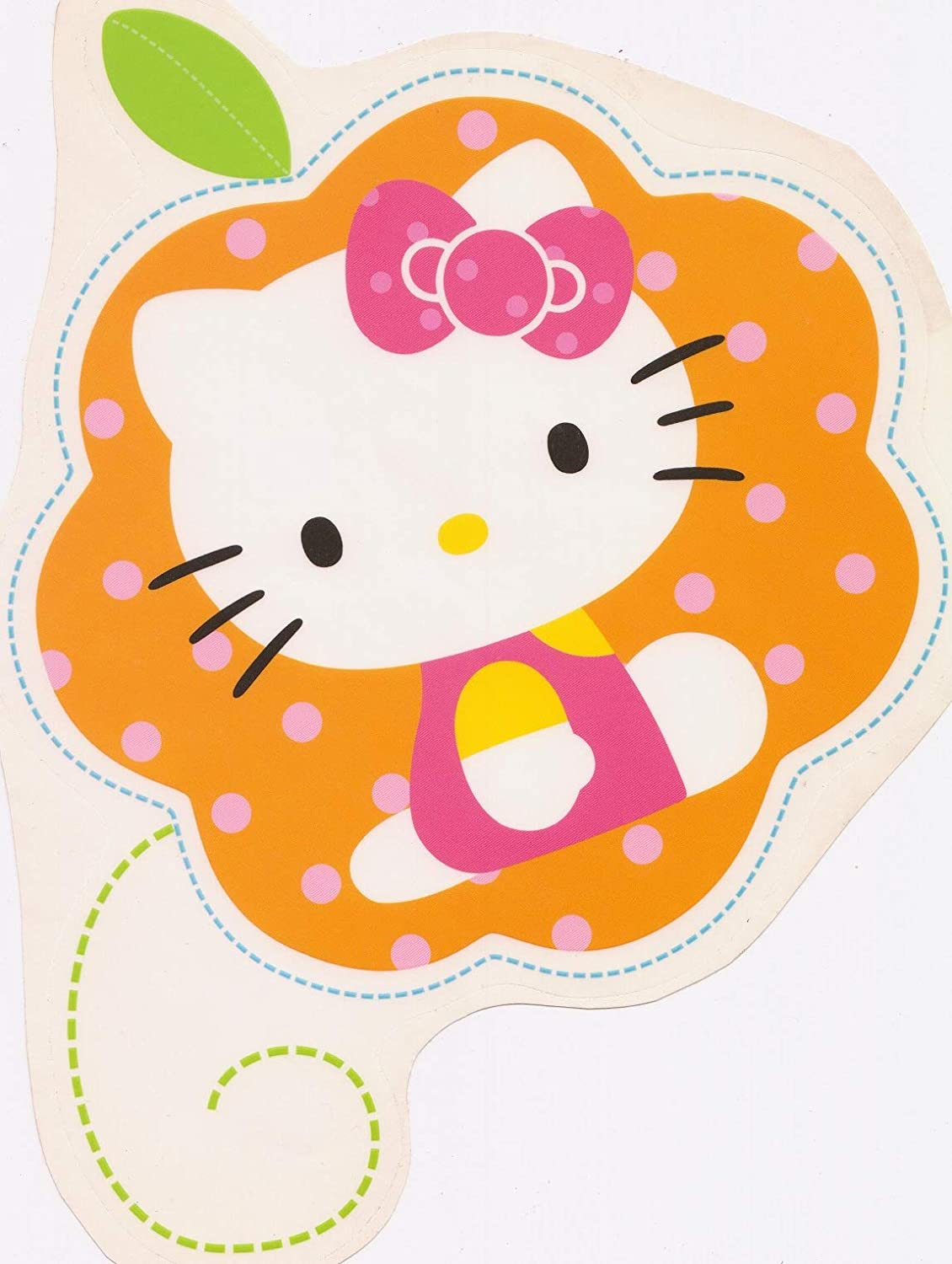 10 Inch Floral Hello Kitty Decal Sanrio Removable Peel Self Stick Wall Sticker Art (Decoration for Walls Laptop Yeti) Nursery Bedroom Home Decor Girls Room 9 x 10 Inch Tall